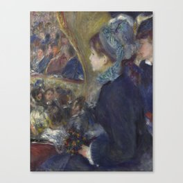 At the Theatre (La Première Sortie) by Renoir Canvas Print