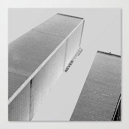 September 11 Tribute - Never Forget - World Trade Center Canvas Print