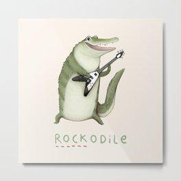 Rockodile Metal Print