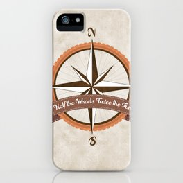 Bicycle Wind Rose iPhone Case
