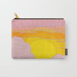 Sixties Inspired Psychedelic Sunrise Surprise Carry-All Pouch