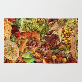 Food Collage 5 Rug