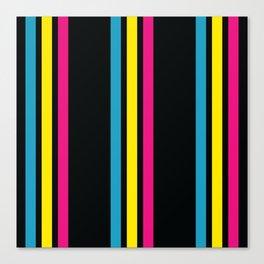 Stripes on Black Canvas Print