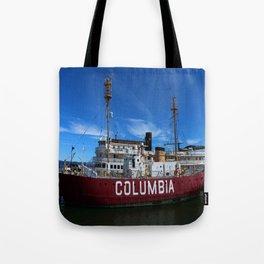 Fireship Columbia Tote Bag