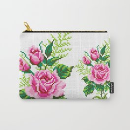 Pixel Rose Carry-All Pouch