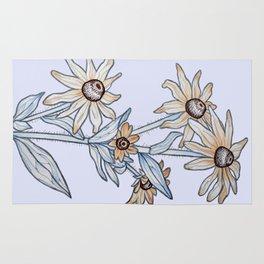 Yellow daisy Rug