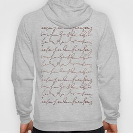 Modern faux rose gold trendy typography Hoody