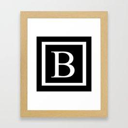 B Monogram Framed Art Print