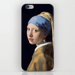 "Johannes Vermeer ""Girl with a Pearl Earring"" iPhone Skin"