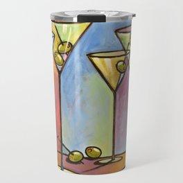 Martini Bar ... Abstract alcohol lounge bar kitchen art Travel Mug