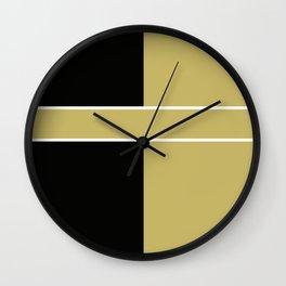 Team Color 6...black,gold Wall Clock