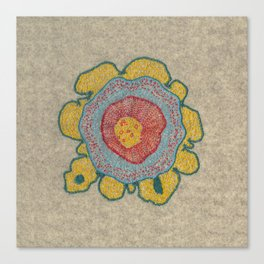 Growing - Pinus#1 - embroidery based on plant cell under the microscope Canvas Print