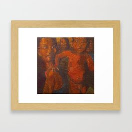 A WOMAN AND HER CHILD Framed Art Print
