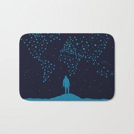 Stars world map - Man Bath Mat