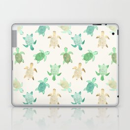 Gilded Jade & Mint Turtles Laptop & iPad Skin