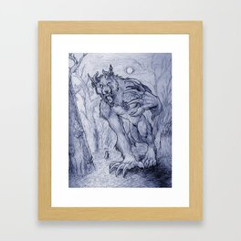 Beast of the Woods Framed Art Print