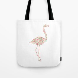 Flamingo Floral Watercolor Tote Bag
