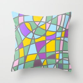 Stain Glass Abstract Meditation Easter Painting Throw Pillow