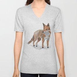 Fox in watercolors Unisex V-Neck