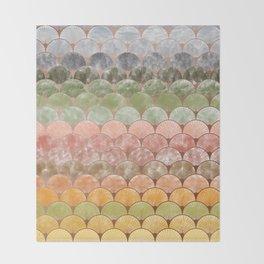 Watercolor art decó pattern Throw Blanket