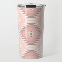 Pastel Pink & Coral Navajo Travel Mug