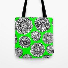green mandala maze  Tote Bag