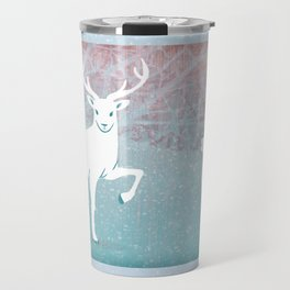 Winter In The White Woods Travel Mug