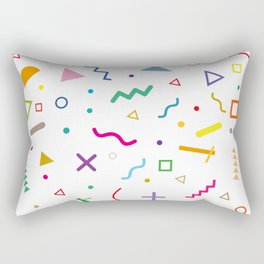 80s shapes 2 Rectangular Pillow