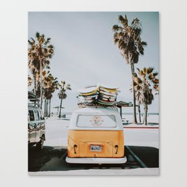 lets surf / venice beach, california Canvas Print