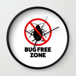 Bug free zone Wall Clock