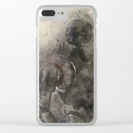 K-2SO Watercolor Clear iPhone Case