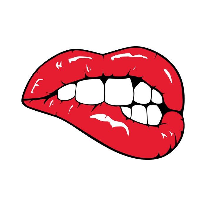 Red Lips Pop art Duvet Cover