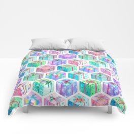 Christmas Gift Hexagons Comforters