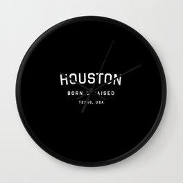 Houston - TX, USA (Arc) Wall Clock