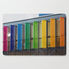 Colorful louvers background Cutting Board