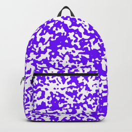 Small Spots - White and Indigo Violet Backpack