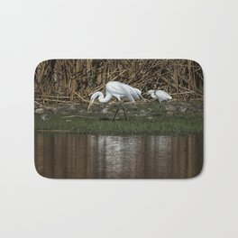 Great and Snowy Egrets, No. 2 Bath Mat