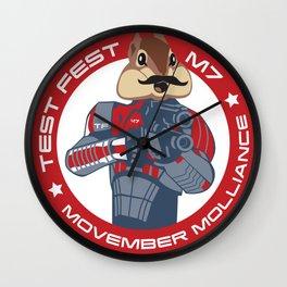 Test Fest / M7 Movember Molliance Wall Clock