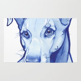 Blue Pittie Rug