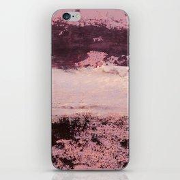 burgundy rose iPhone Skin