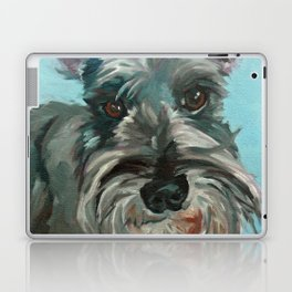 Schnauzer Dog Portrait Laptop & iPad Skin
