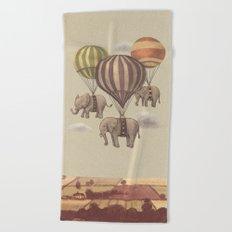 Flight of the Elephants  Beach Towel