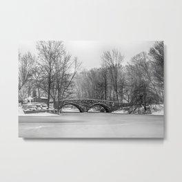 Stone Bridge at Clove Lakes Staten Island Metal Print