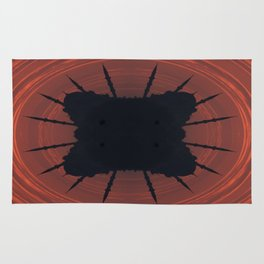 Abstract mosque silhouette Rug