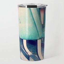 Retro Diner Photograph, kitchen art, restaurant decor, shabby chic, vintage, pastels, mint and pink Travel Mug