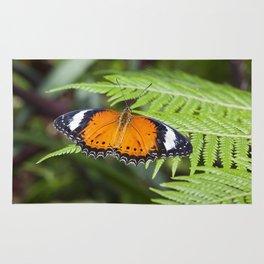 Orange Butterfly Rug