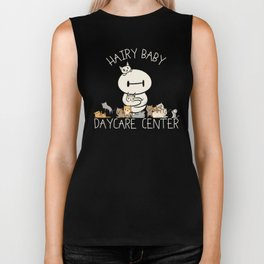 Hairy Baby Daycare Center (All chibi) Biker Tank
