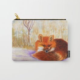 Red fox small nap   Renard roux petite sieste Carry-All Pouch