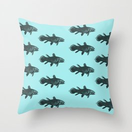 Flock of Fish Throw Pillow