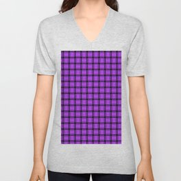 Small Light Violet Weave Unisex V-Neck